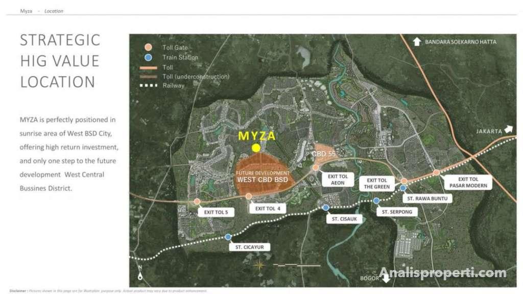 Peta Lokasi Cozmo House Myza