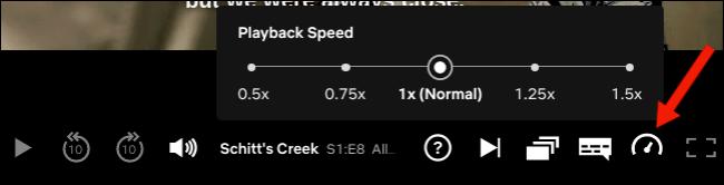 اضبط سرعة التشغيل على موقع Netflix على الويب