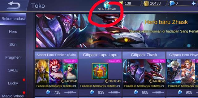 cara mengirim skin hero mobile legend