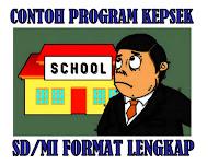 Contoh Program Kepala Sekolah SD/MI Format Lengkap