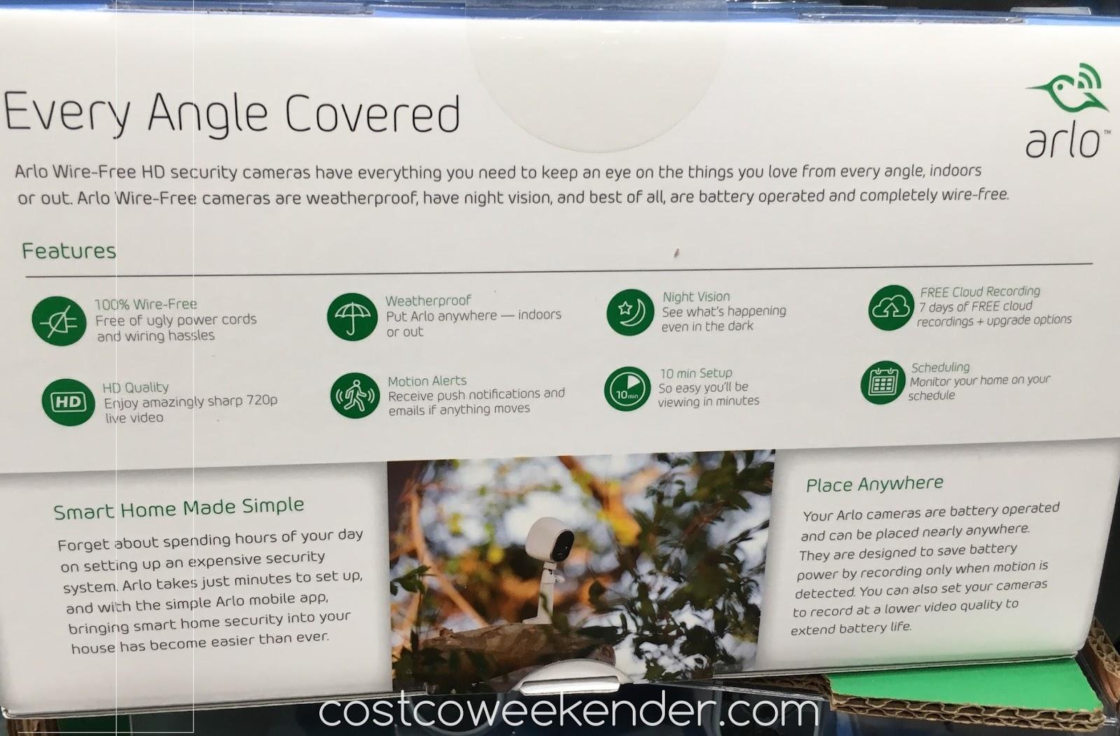 Netgear Arlo Vms3230c Wire Free Security Cameras Costco Weekender