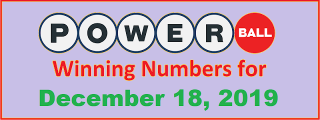 PowerBall Winning Numbers for Wednesday, December 18, 2019