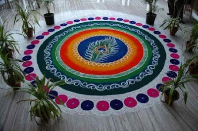 Special rangoli Design images for Office