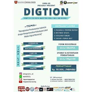 Kompetisi Esai Digital Marketing Nasional 2018 Untuk SMA Sederajat
