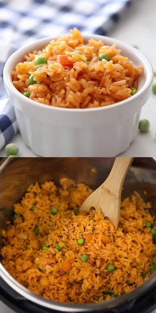 Mexican Rice recipe is my favorite side-dish for any Mexican food we eat! I perfected this recipe while living in Mexico– it's completely authentic– and I've adapted it to cook perfectly in the Instant Pot! The end result is Mexican rice that is so perfect, easy and delicious I may never go back to the stove-top version!