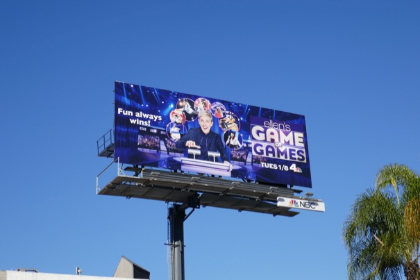 Ellens Game of Games season 2 billboard