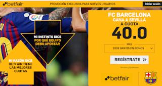 betfair supercuota Barcelona gana al Sevilla 20 octubre