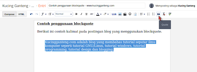 Cara Membuat Blockquote Keren di Blogspot