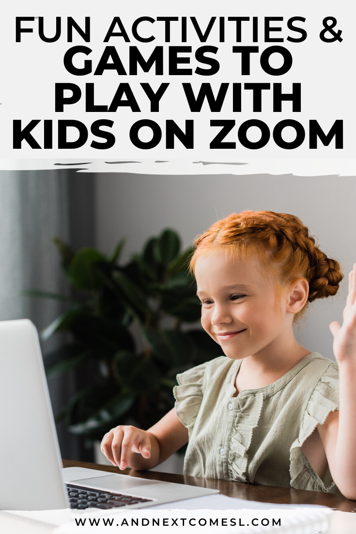 Fun Games To Play With Kids On Zoom Video Chat And Next Comes L Hyperlexia Resources