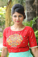 Lucky Shree Looks super cute in Bright Red Green Anarkali Dress ~  Exclusive 034.JPG