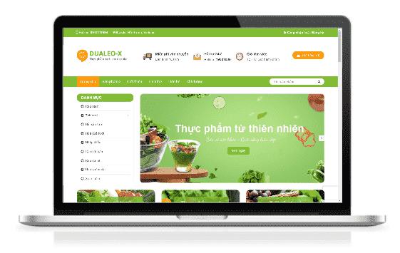 Giao diện blog bán hàng trái cây rau quả