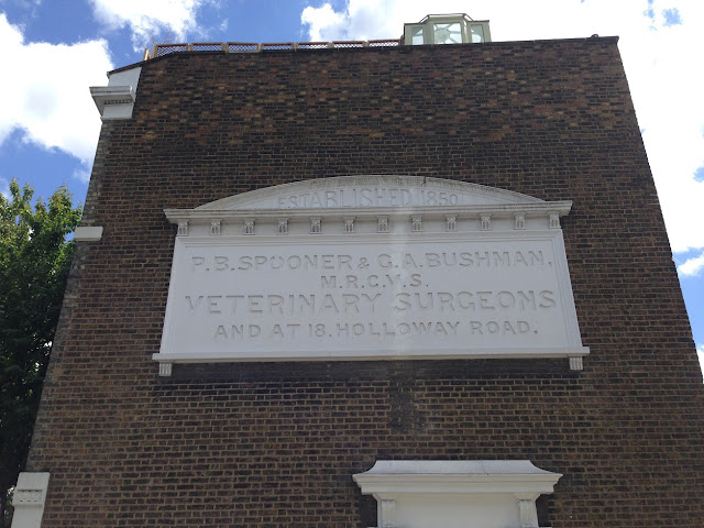 Ghost sign for Veterinary Surgeons, Islington, London N1