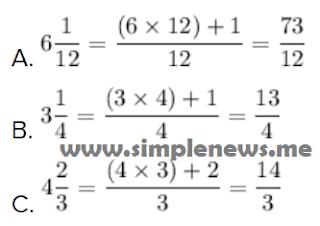 Mengubah pecahan campuran ke pecahan biasa www.simplenews.me