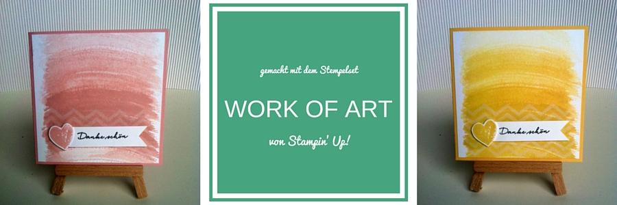Karte, quadratisch, Stempelset Work of Art, was ich mag, Kirschblüte, Safrangelb, Stampin Up, Loewchenzimmer, löwchenzimmer