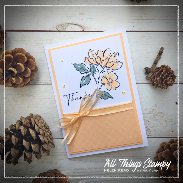 Stampin Up card made with Pale Papaya In Colors 2021 Hand Penned Petals