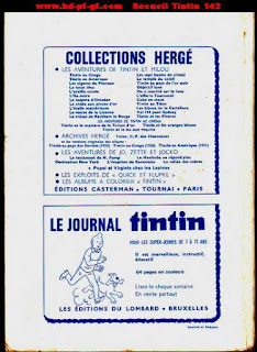 Recueil du journal Tintin, numéro 142, 1978