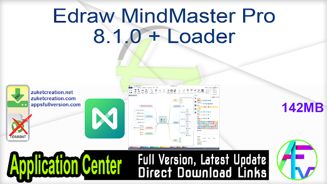 Edraw MindMaster Pro 8.1.0 + Loader