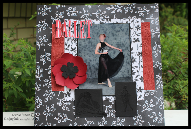 12 x 12 scrapbook layout of Alaina's ballet photo
