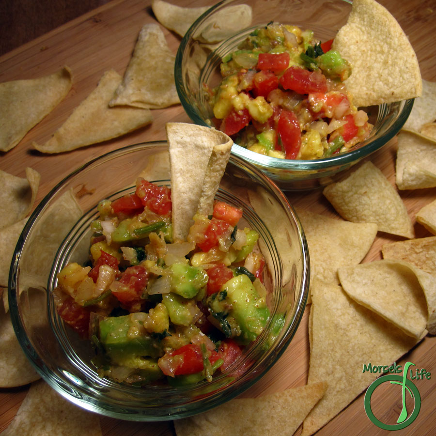 Morsels of Life - Guacamole Version 4.0 - Avocado, mixed with all the usual suspects, for a mighty tasty guacamole!
