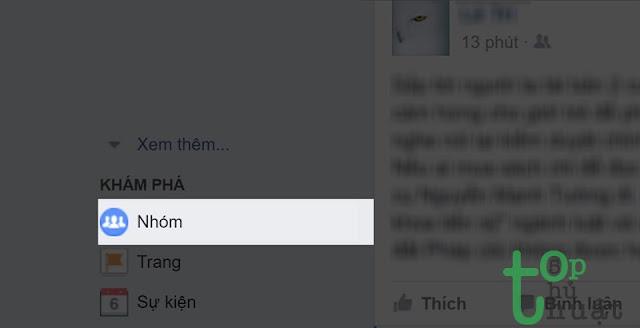 Vào cài đặt nhóm Facebook