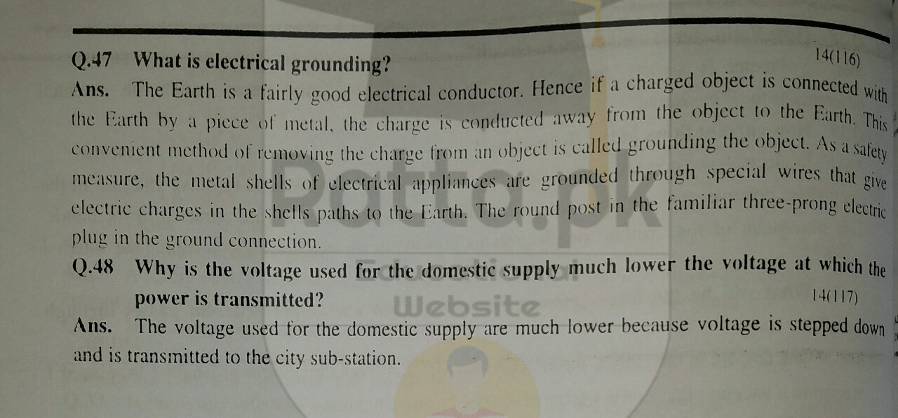 10th Physics Chapter 14 Short Questions 6
