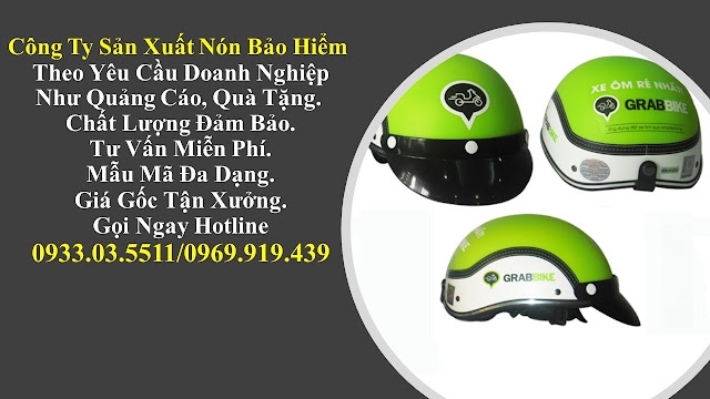 2. Sản xuất mũ bảo hiểm nửa đàu, nón bảo hiểm quà tặng, mũ bảo hiểm giá rẻ, nón bảo hiểm quảng cáo tại Hồ Chí Minh