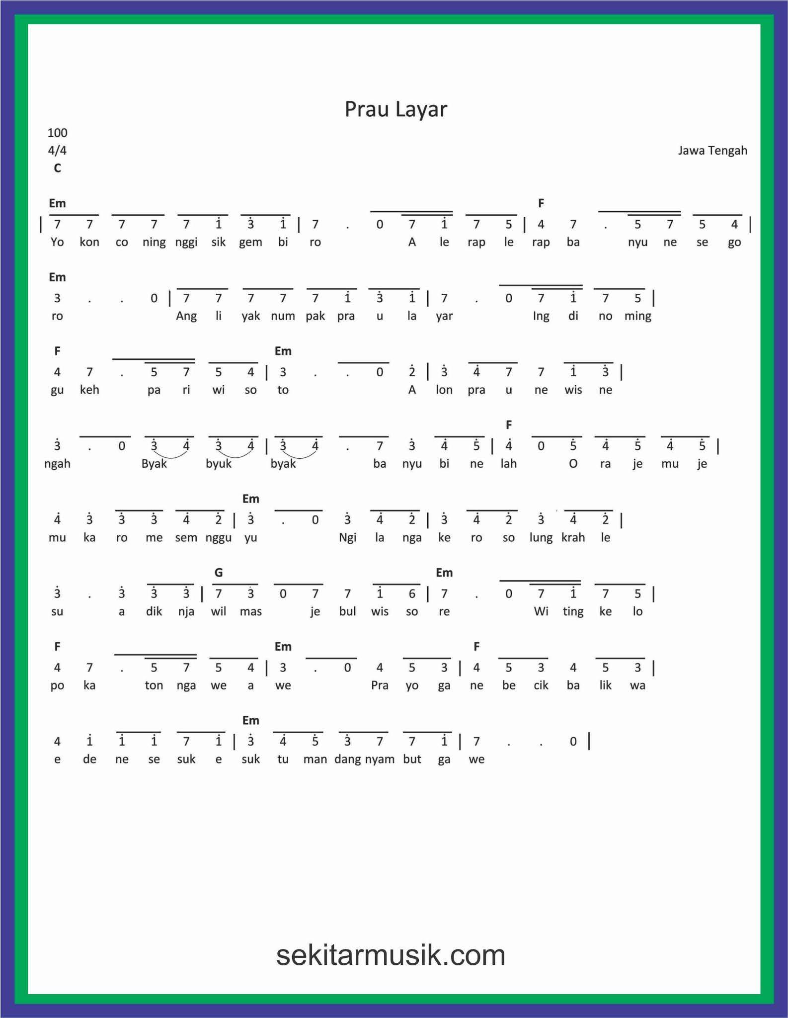 Lirik Lagu Prahu Layar : lirik, prahu, layar, Angka, Layar, SEKITAR, MUSIK