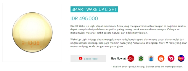 Jual Bardi Smart Wake Up Light