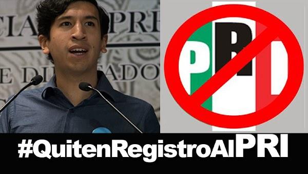 Kumamoto presenta petición para quitar registro al PRI; ENTREGARÁ FIRMAS AL INE  ¡¡¡DIFUNDE!!!