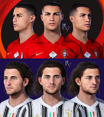 PES 2021 Faces Cristiano Ronaldo & Rabiot by LR7
