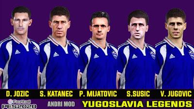 PES 2021 Facepack Legends Yugoslavia by Andri Mod