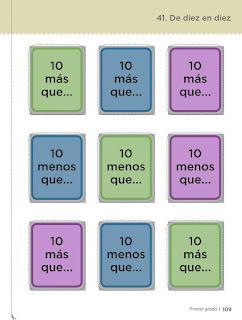De diez en diez material recortable pagina 113 desafíos matemáticos primer grado contestado