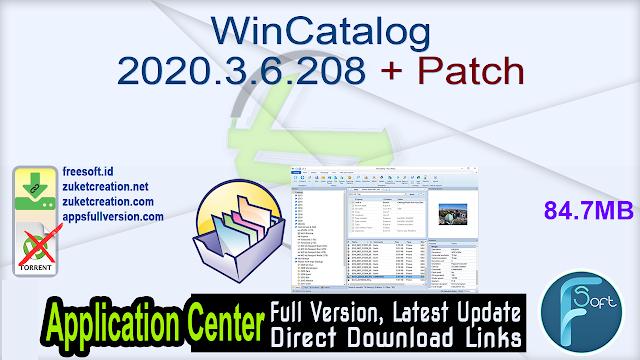 WinCatalog 2020.3.6.208 + Patch