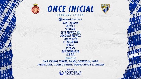 Girona - Málaga, alineaciones confirmadas