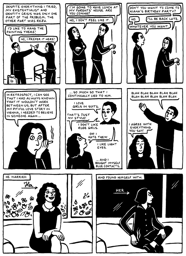 Read Chapter 17 - The Wedding, page 164, from Marjane Satrapi's Persepolis 2 - The Story of a Return