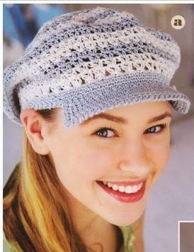 6 patrones de gorros tejidos con crochet