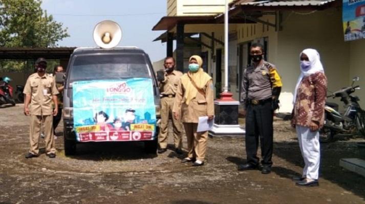 Satgas Covid-19 Desa Karanggedang Bukateja Gencar Siaran Keliling