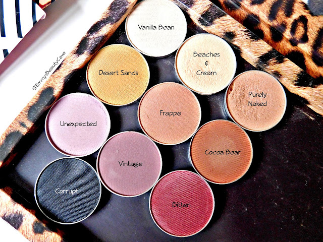 Makeup Geek Matte Eye Shadows