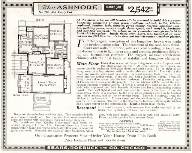 Craftsman bungalow by Sears: Sears Ashmore floor plan 1920