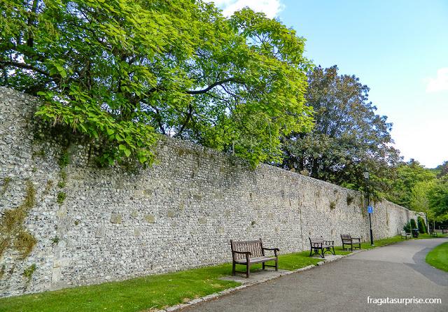 muralha saxônica de Winchester, Inglaterra