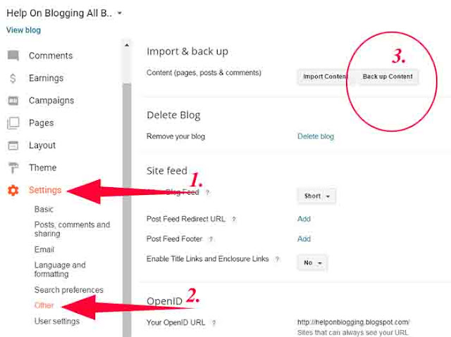 How To Backup Blogger Posts