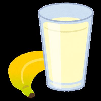 バナナジュースのイラスト