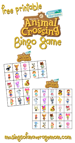 animal crossing bingo
