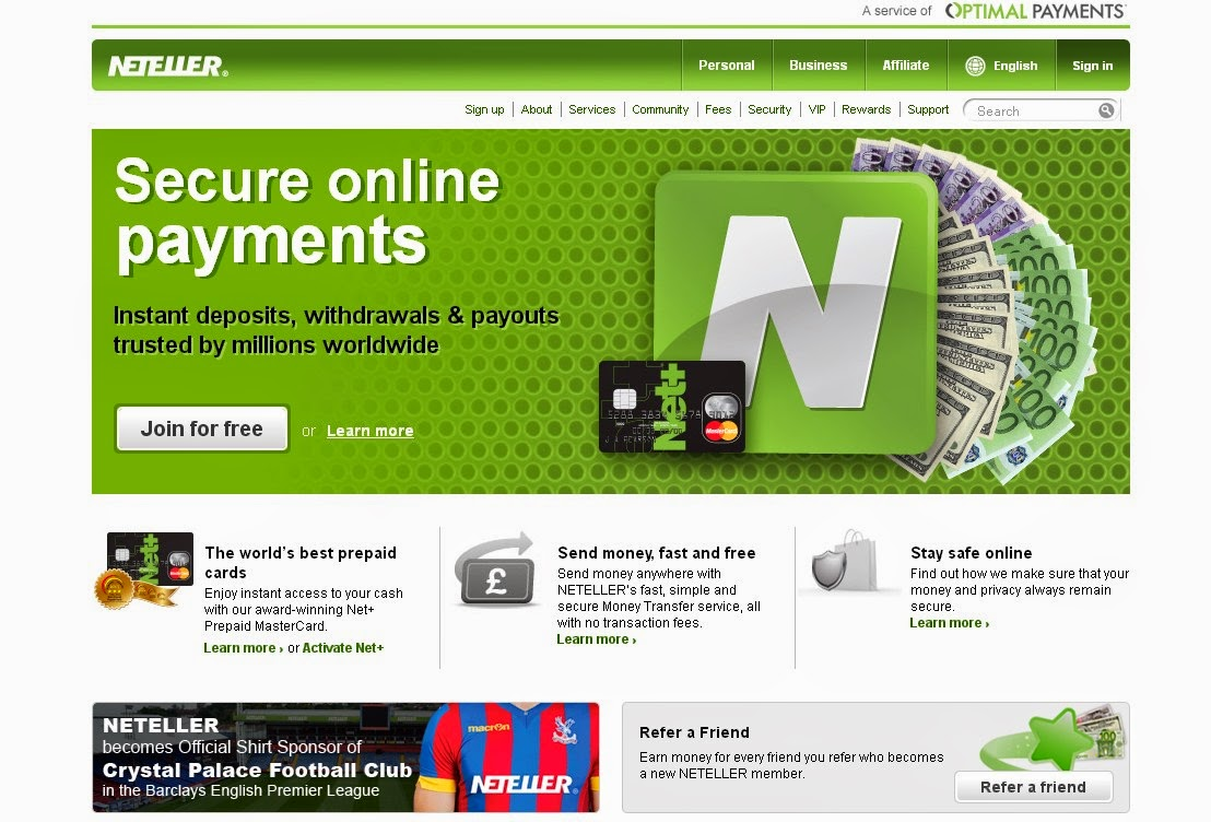 Neteller Screen
