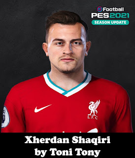 PES 2021 Faces Xherdan Shaqiri by Toni Tony