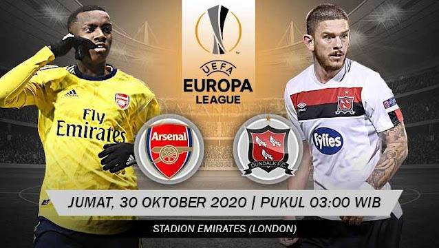 Prediksi Arsenal Vs Dundalk, Jumat 30 Oktober 2020 Pukul 03.00 WIB @ SCTV