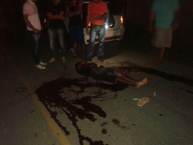 Acidente com vitima fatal nas proximidades da comunidade de Palhal em Mojuí dos Campos.
