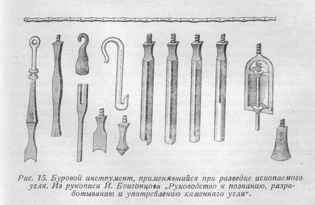 Буровой инструмент XVIII ст.