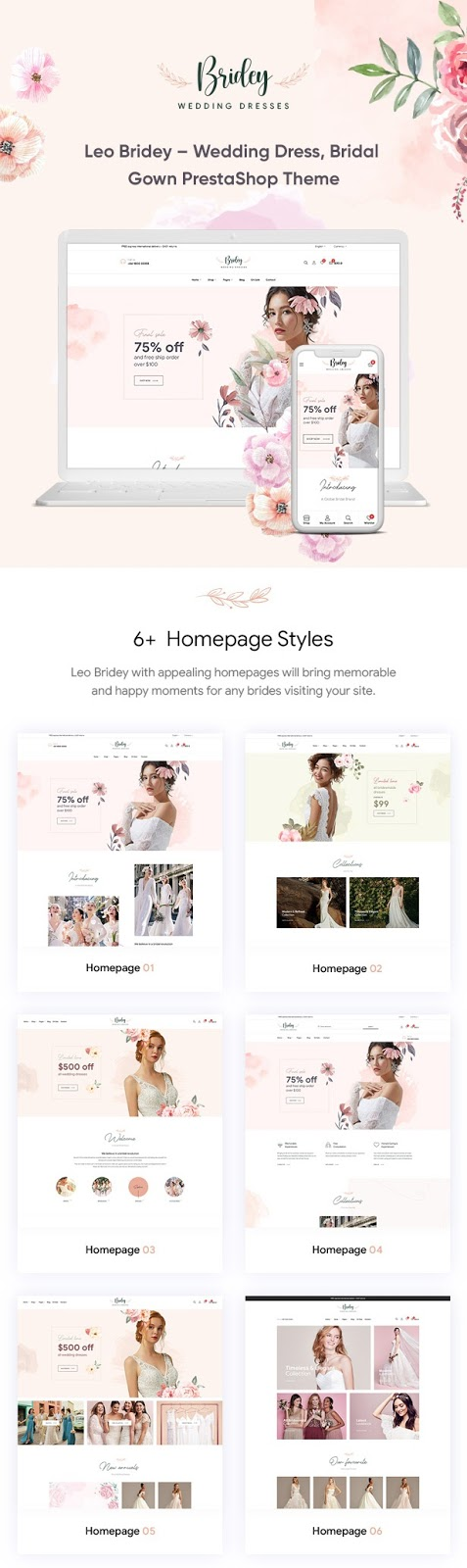 Wedding Dress, Bridal Gown Online Shop Theme