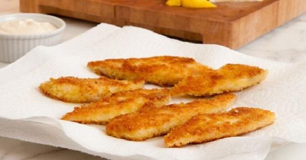 Crispy Tilapia Fingers With Lemon-Garlic Mayonnaise Recipe